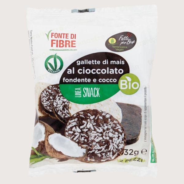 Immagine di Gallette di Mais con Cioccolato Fondente e Cocco Bio 32gr