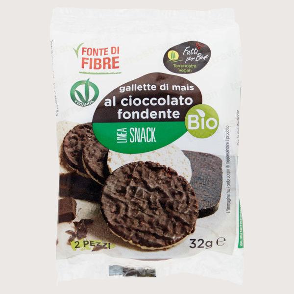 Immagine di Gallette di Mais con Cioccolato Fondente Bio 32gr